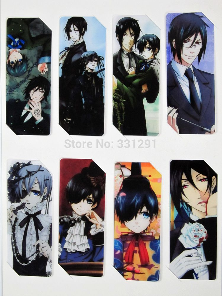 Black Butler Bookmark anime bookmarks study stationery 8 pieces/sets