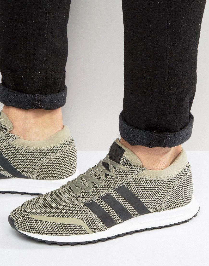 Shop adidas Originals Los Angeles Sneakers In Beige at ASOS.