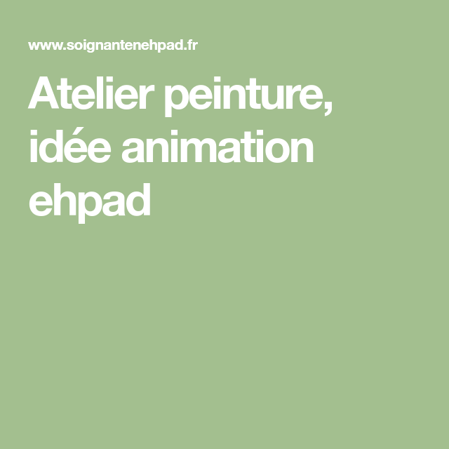 animation 5 sens ehpad