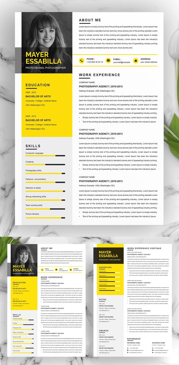 40+ Professional Word Resume Templates in 2020 Simple