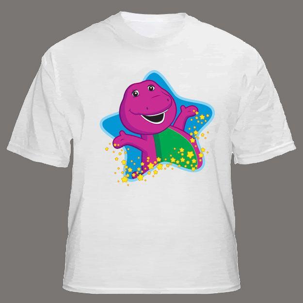 ecd0845b84 Barney & Friends shirts Friendly Purple Dinosaur Star personalized ...