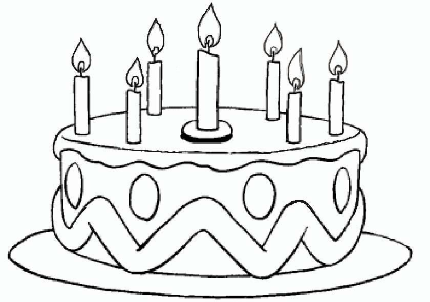 Torte Zum Geburtstag Bild Zum Ausmalen Ausmalbilder Für Kinder