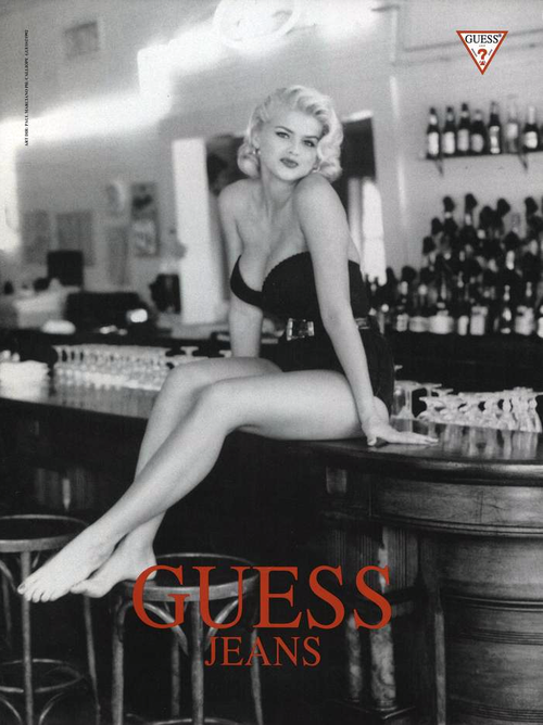 anna nicole smith guess poster
