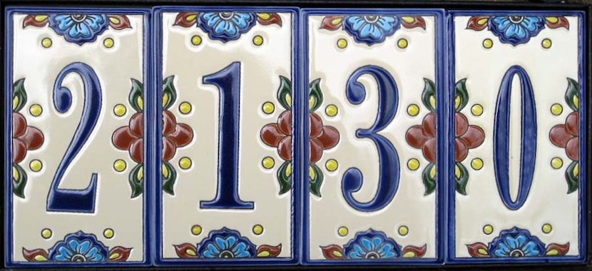 House Number Tiles Http Www Mexicantiles Ceramic Mexican Tile Numbers Html