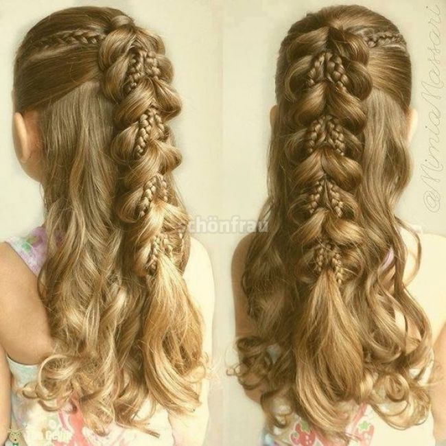 20+ Fancy Little Girl Braids Hairstyle | Little girl braid hairstyles, Cute brai…