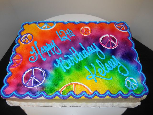 Admirable Hippie Birthday Cakes Pin Hippie Cake By Vancouver Designer Funny Birthday Cards Online Unhofree Goldxyz