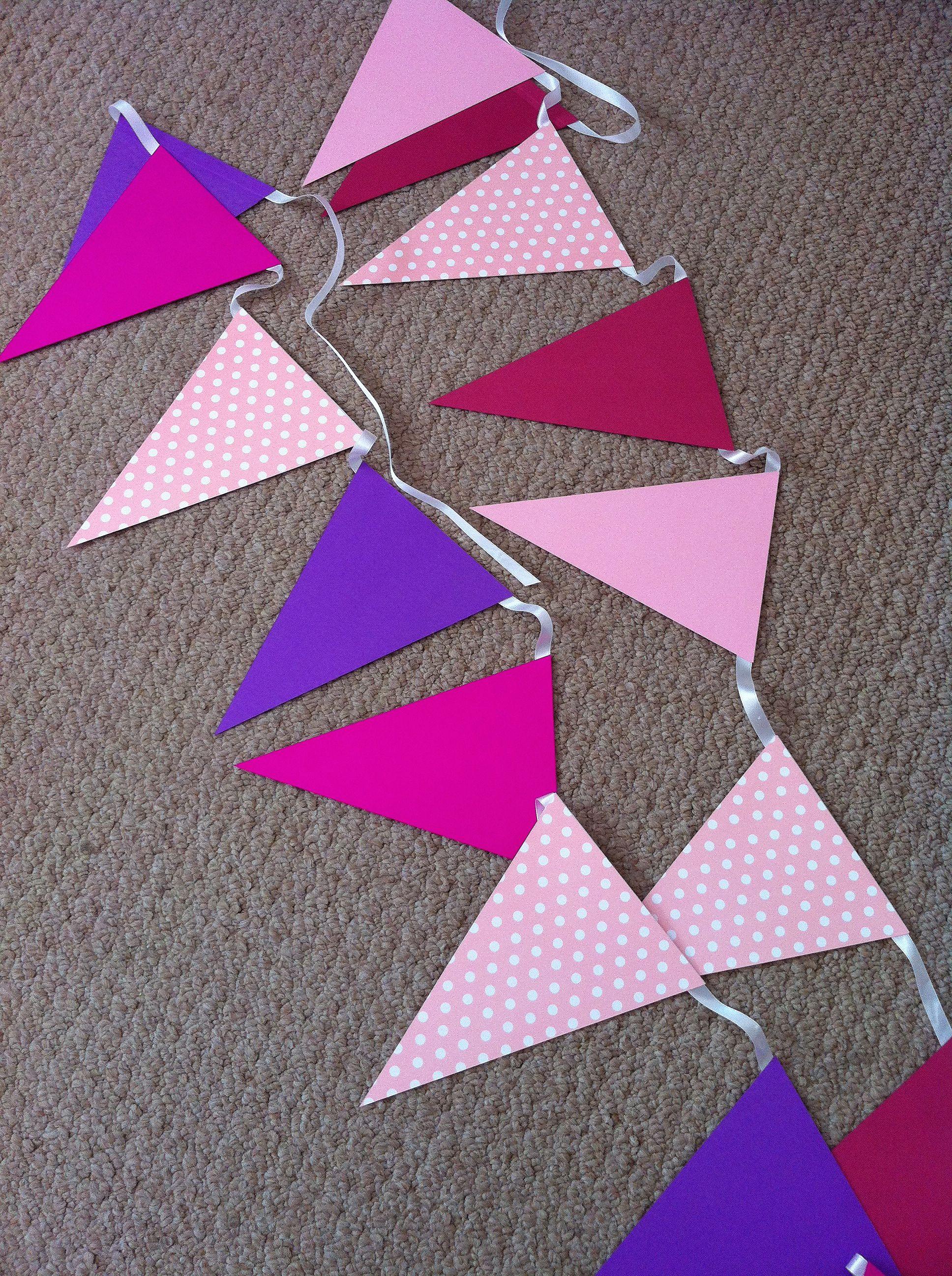en bonitos y modernos colores de algod/ón azul Guirnalda de banderines de tela con estrellas hecha a mano KraftKids