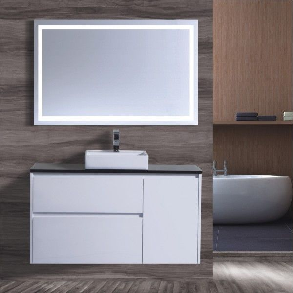 New product range. - 1200 wall hung vanity basin High gloss white finish Soft close draws Stone tops Colour of your choice Square above counter basin #bathroom #renovation #interiordesign #remodel  http://www.bathroom-renovation.melbourne
