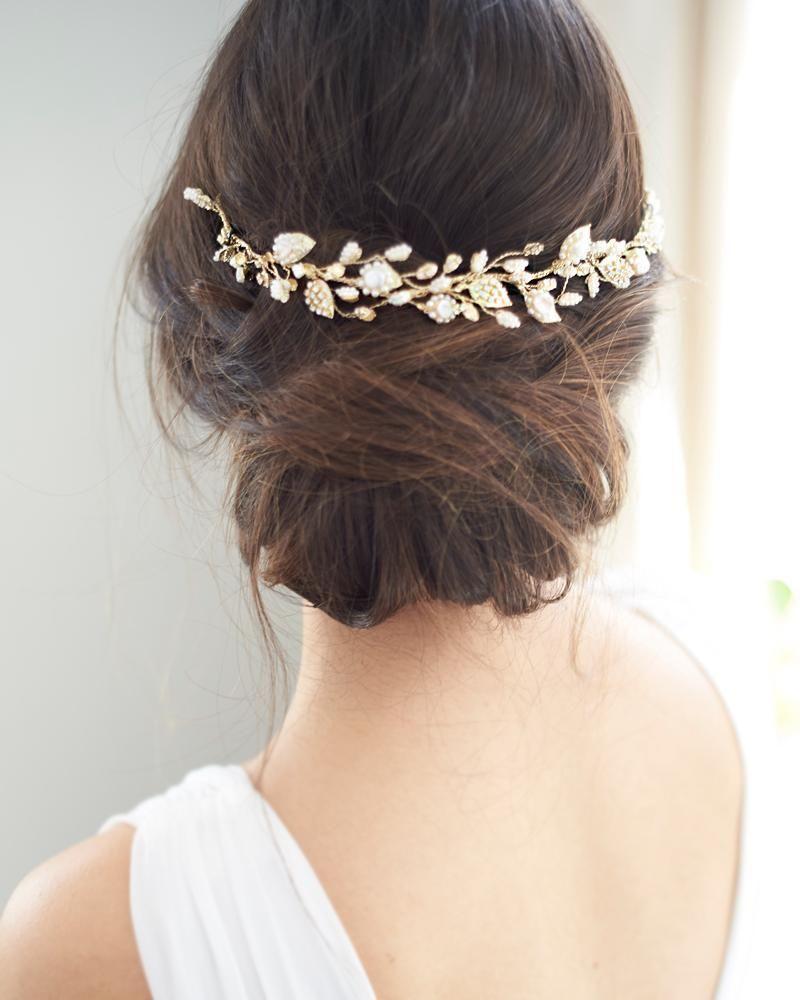 meadow pearl hair vine in 2019 | bridal hair vines