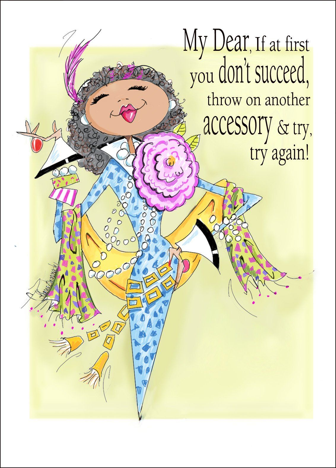 Funny african american woman birthday card for friend