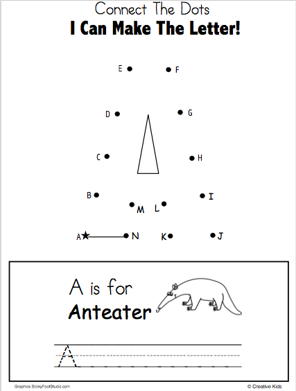 Letter A Connect The Dots