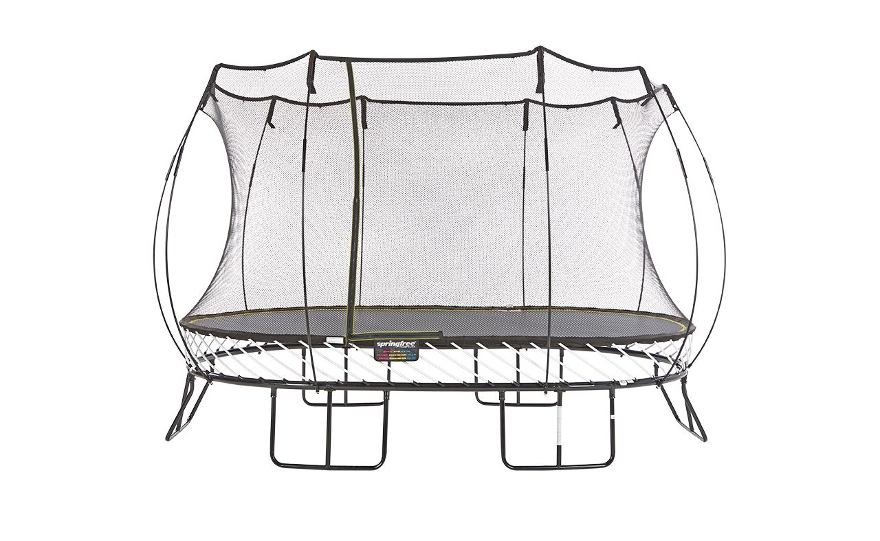 Trampolines Archives | Happy Backyards | Oval trampoline ...
