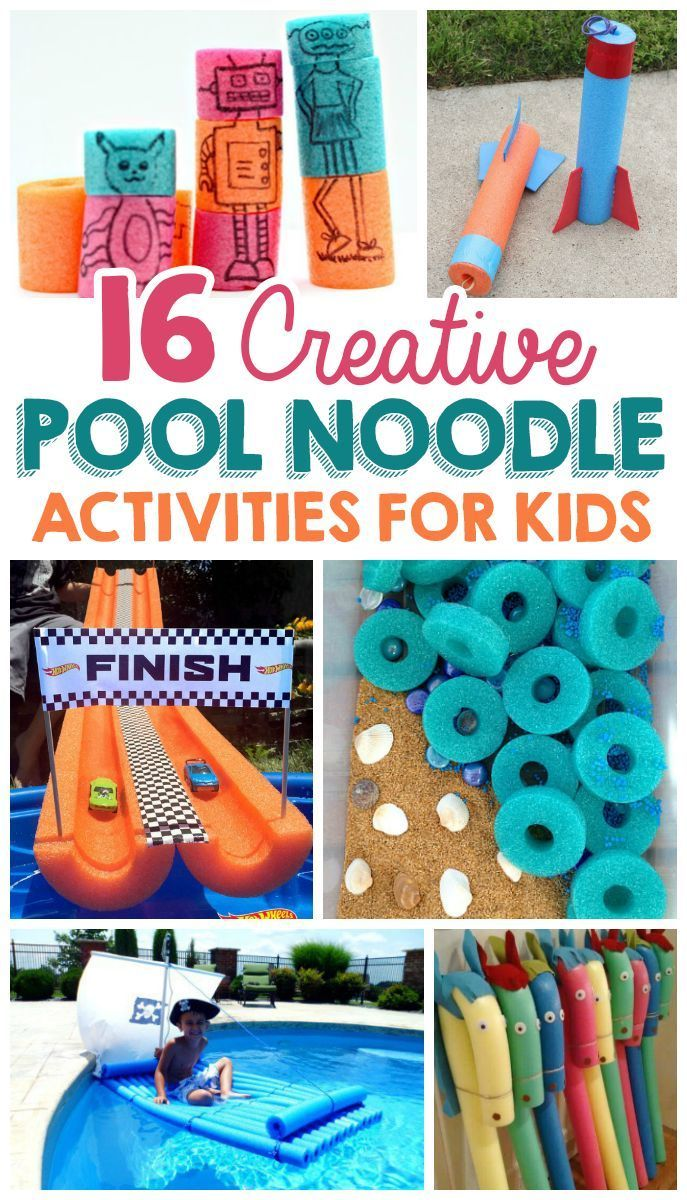 16 Creative Pool Noodle Activities For Kids The Realistic Mama Pool Noodle Crafts Activities For Kids Craft Activities For Kids