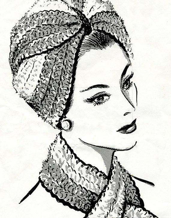 Vintage Crochet Turban Pattern | turbantes, vinchas y gorros ...