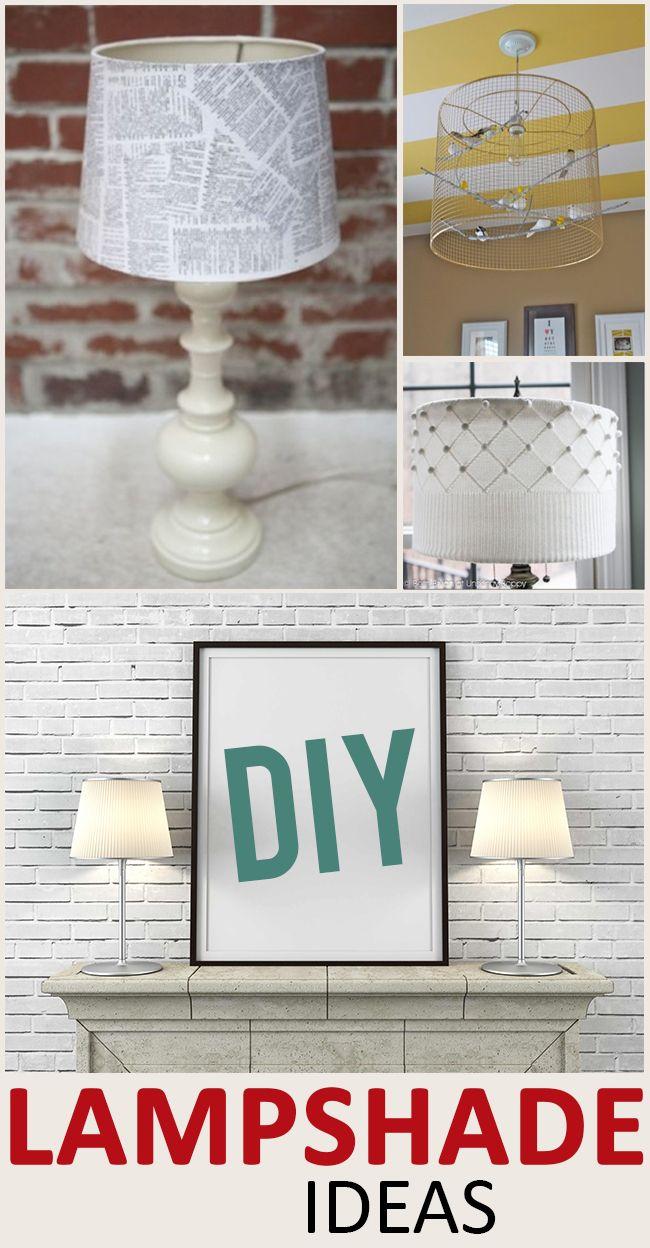 DIY Lampshade Ideas and Tutorials   Lampshade ideas, Diy lampshade ...