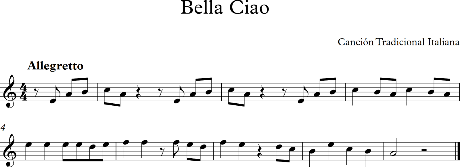 Bella Ciao Piano Sheet Music Pdf Music Sheet Collection