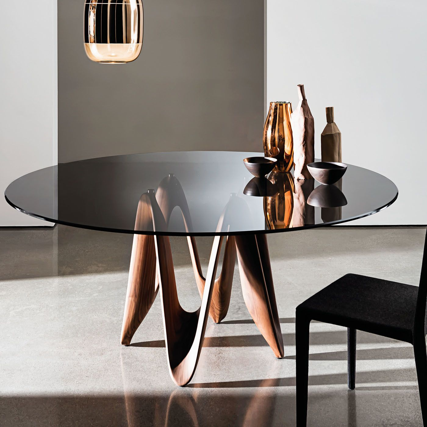 Lambda Tinted Table In 2020 Glass Dining Table Dining Table