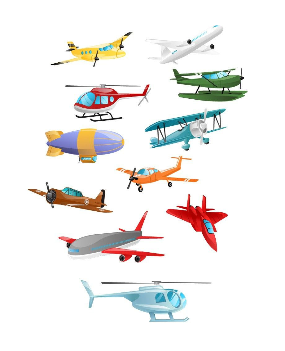 Airplanes Vector Pack Download Aeroplane Helicopter Art Free Airplane Vector Vintage Airplane Illustration Airplane Illustration