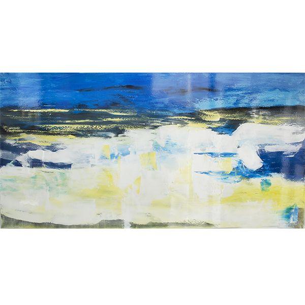 tableau bleu et blanc abstrait fini lustr 30 x 60 39 39 tableau bleu fonds d 39 cran abstraits et. Black Bedroom Furniture Sets. Home Design Ideas