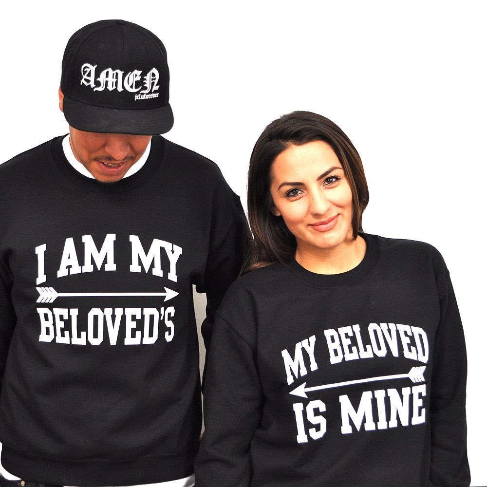 Shirt design for couples - A Him And Hers Sweatshirt Designed With Couples In Mind Share The Lord In Your