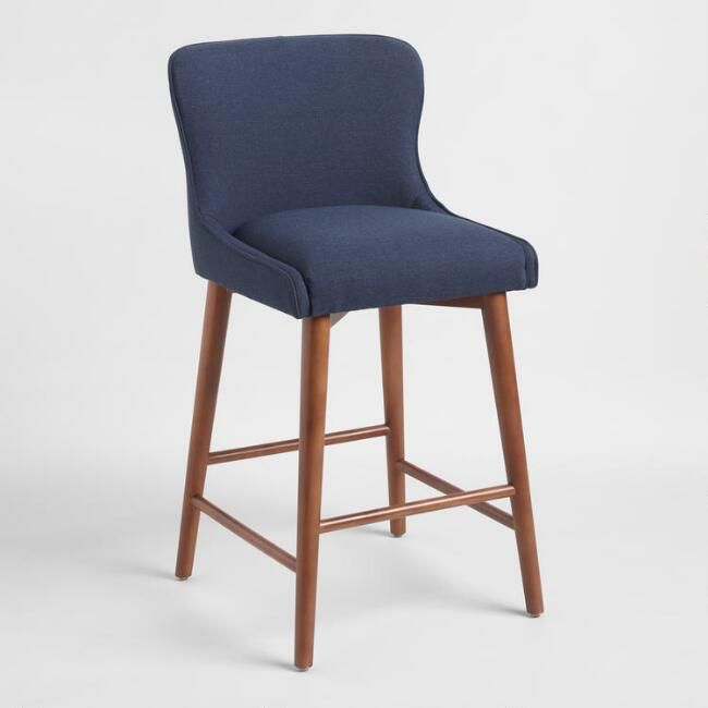 Magnificent Zarah Wingback Upholstered Counter Stool Gray By World Machost Co Dining Chair Design Ideas Machostcouk