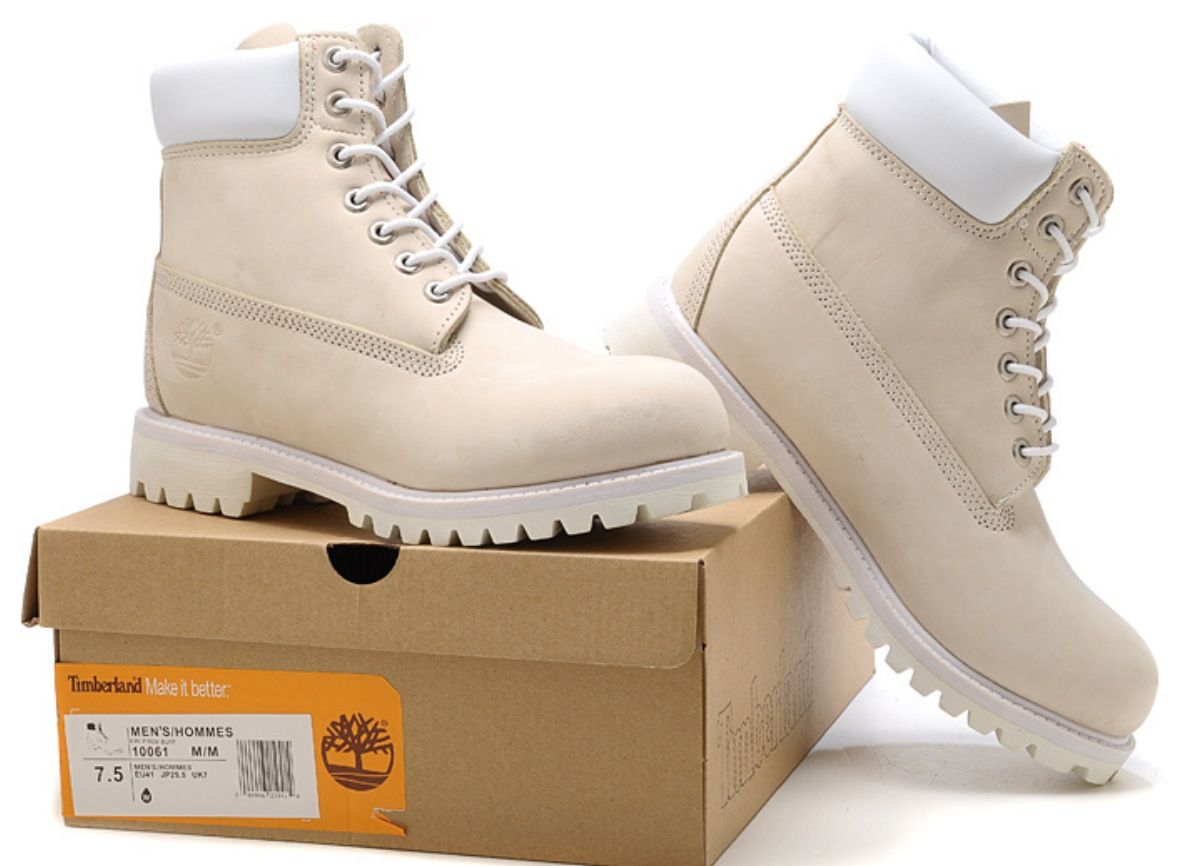 Cheapest Timberland Mens 6 Inch Boots Cream White From For Sale