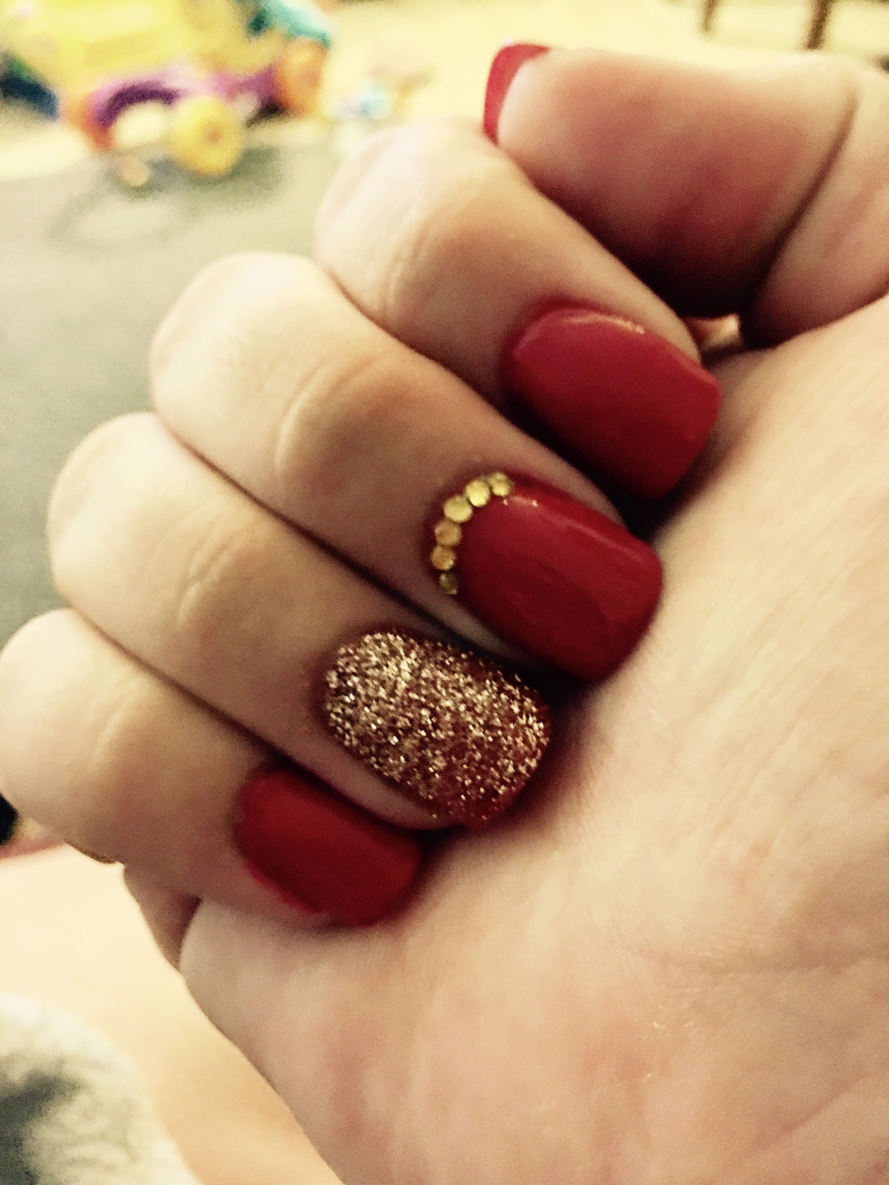 34 Red Glitter Nails ideas in 2021 | nails, nail designs