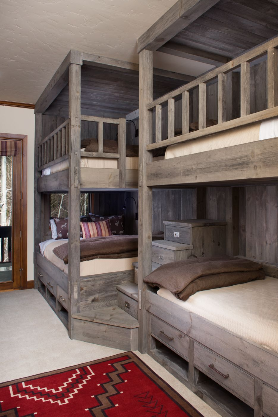 Loft bed with desk pottery barn   best images about Woody bedroom on Pinterest