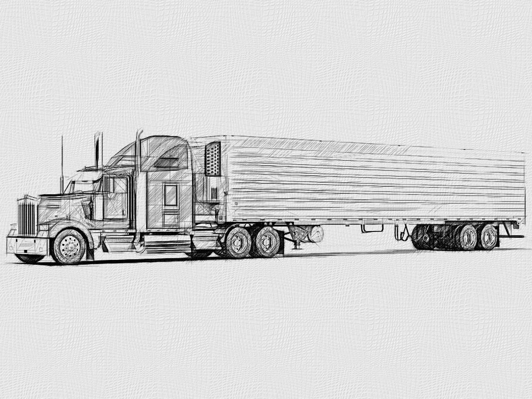 Pin By Mireya Mendoza On Trucks In 2020 Tractor Trailers Bike Illustration Kenworth