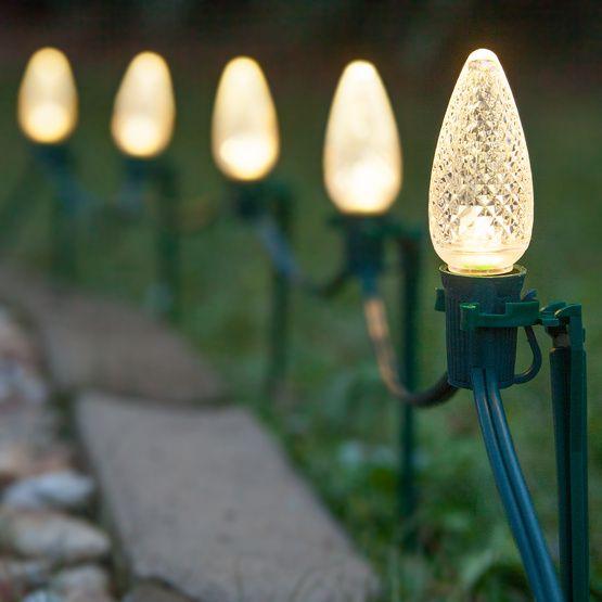 C9 Warm White Christmas Led Pathway Lights Led Christmas