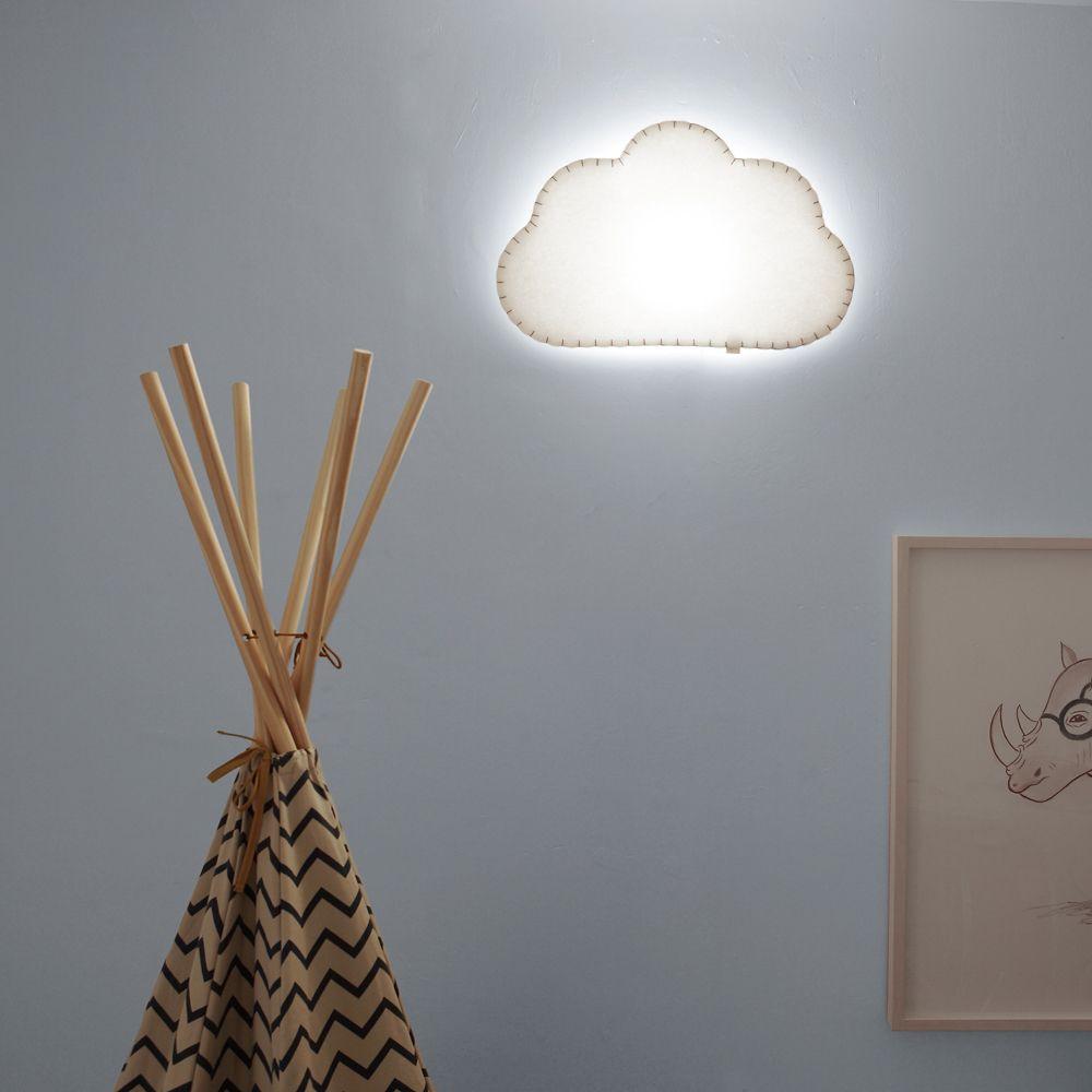 Aplique Nube Azul Off Nubes Apliques De Pared Y Candelabros