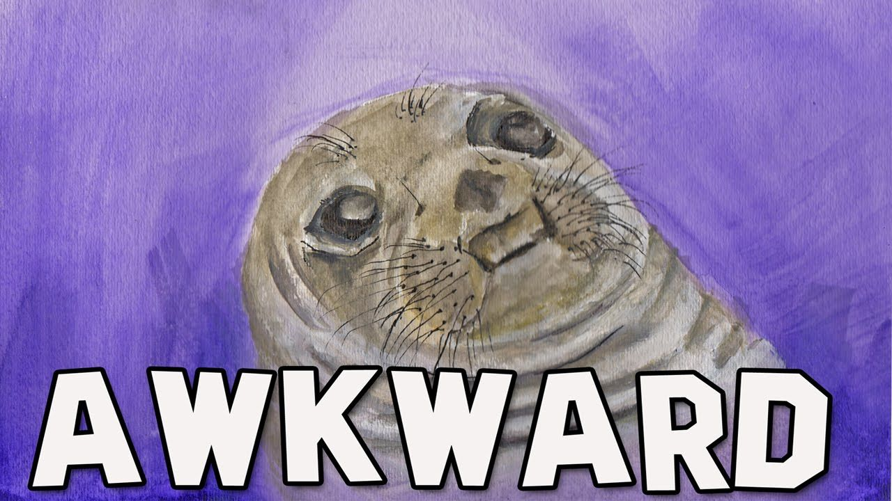 Awkward Moment Seal watercolor time-lapse