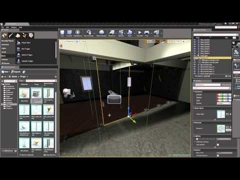 Introduction to UE4 Level Creation - 9 - Blueprint Doorway