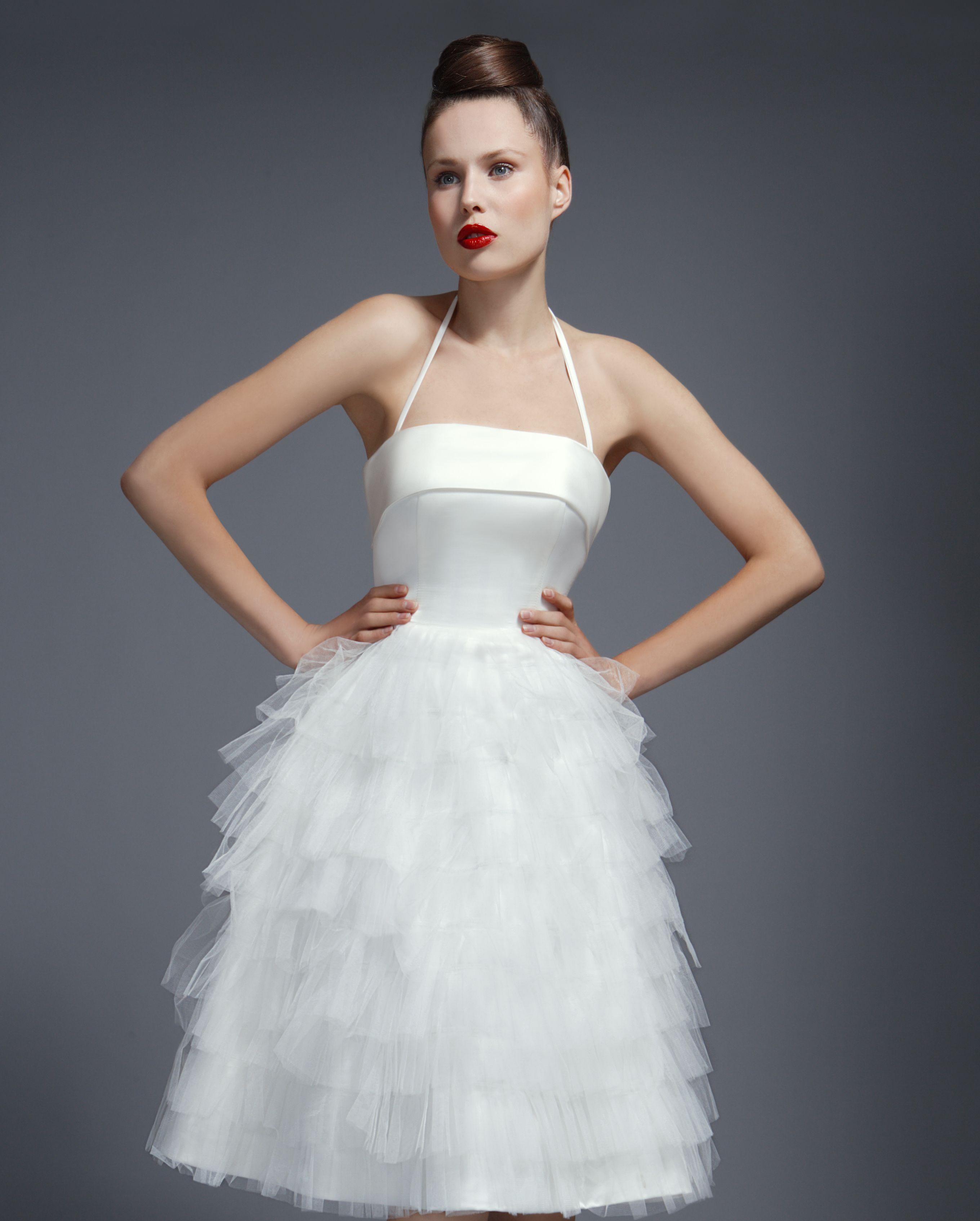 Tea Length Wedding Dresses,Short Wedding Dresses,1950s wedding dresses, Tobi Hannah, Tutu Ballerine