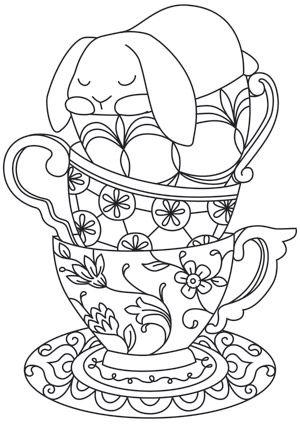 Teacup Bunny design (UTH7572) from UrbanThreads.com
