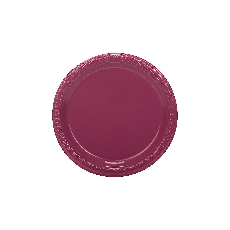 Burgundy+Plastic+Dessert+Plates+-+OrientalTrading.com