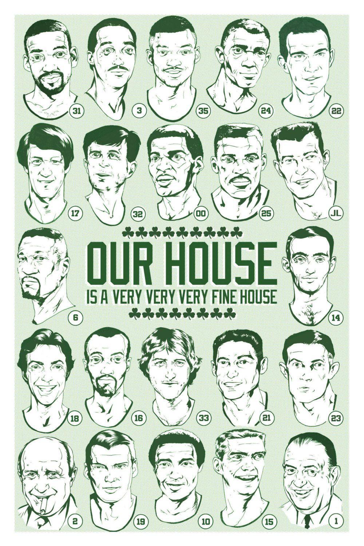 b2e715bd7 ... boston celtics retired numbers illustrated art print