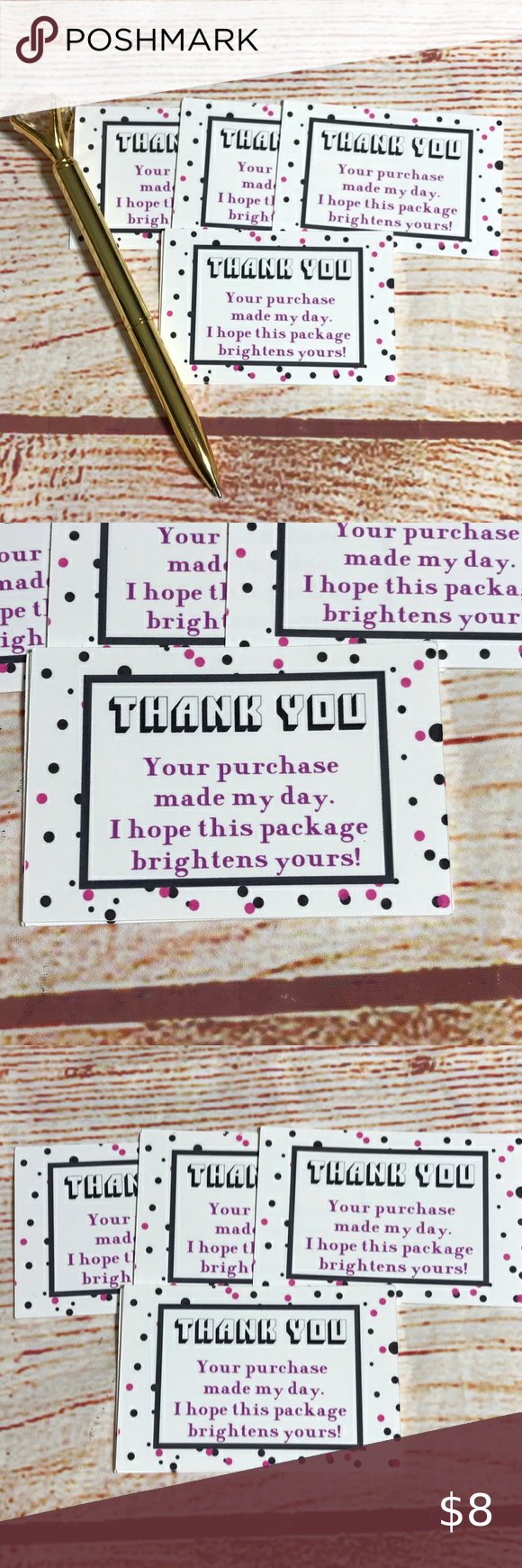 25 Thank You Cards Size 3 X2 Thank You Card Size Thank You Cards Card Sizes