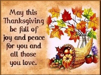happy thanksgiving wishes friends