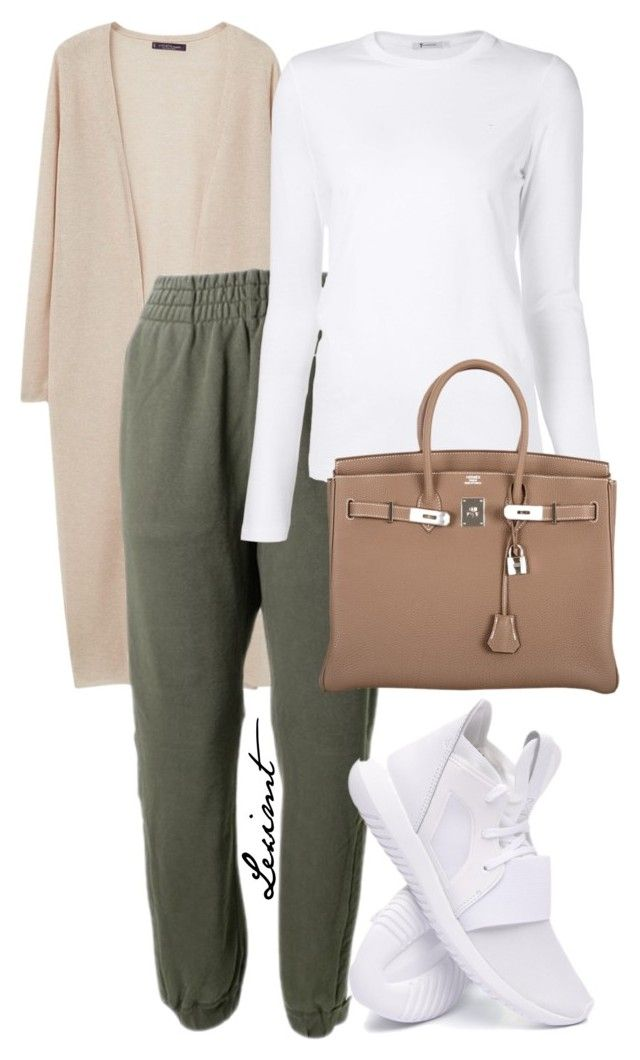 Untitled #769 by leximt on Polyvore featuring polyvore, fashion, style, T By Alexander Wang, Violeta by Mango, adidas Originals, adidas, Hermès and clothing
