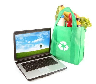 Make money selling reusable canvas shopping bags on eBay