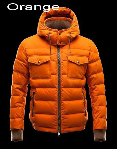 Moncler Fedor Men Flag Detachable Hood Down Jacket Orange For Sale