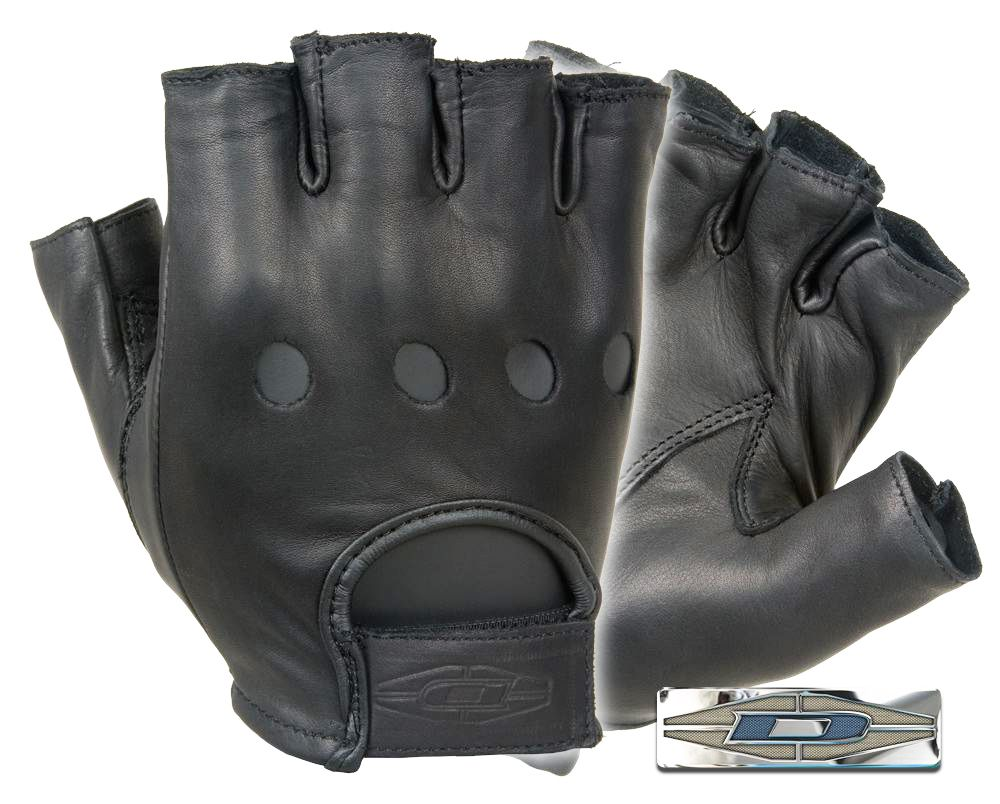 Fingerless leather gloves mens accessories - D22s Fingerless Leather Driving Gloves