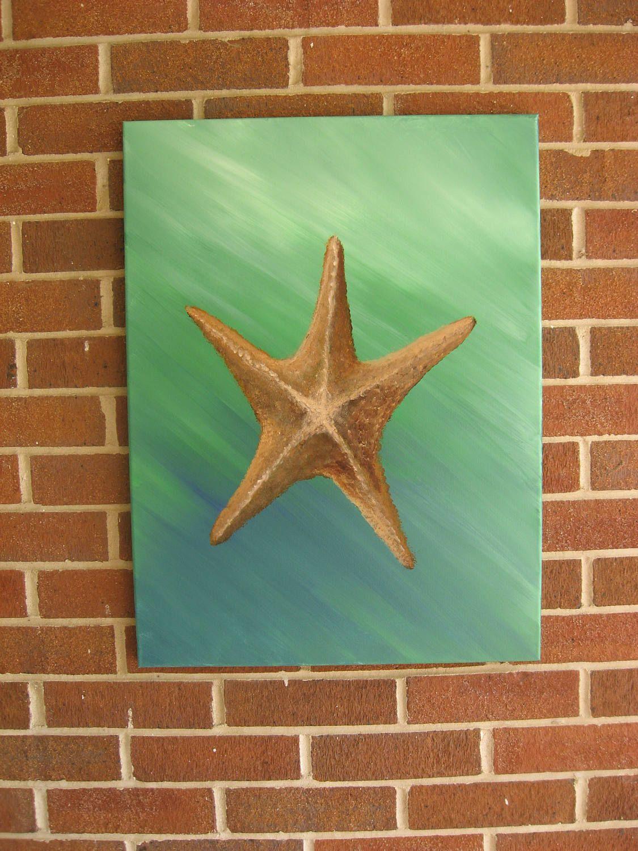 Starfish Painting Large Starfish Starfish Decor Original Starfish