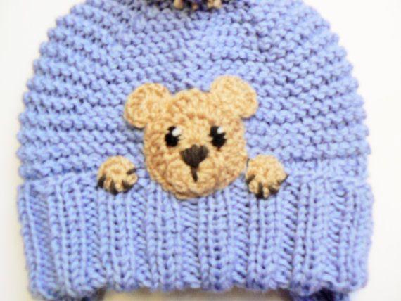 Teddy Bear Hat Batole zimní čepice Kids Earflap Hat Pom podle 2mice