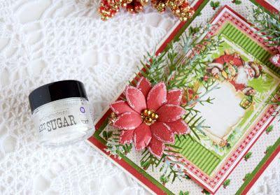 CottageBLOG: Christmas card with 3D Flowers