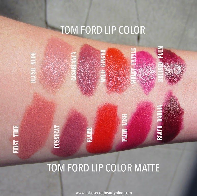 Tom Ford Beauty Lip Color Matte Swatches And Dupes Tom Ford Lipstick Swatches Lip Colors Summer Lipstick