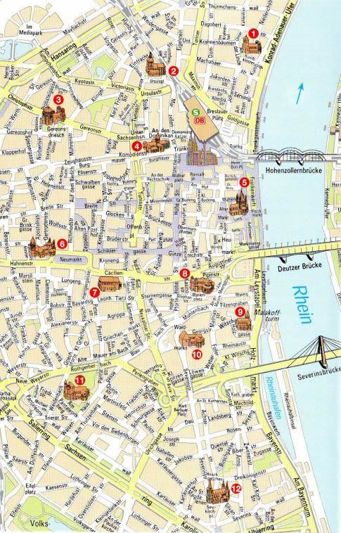 Cologne Map Germany Europe Pinterest Beautiful Places - Germany map for tourist