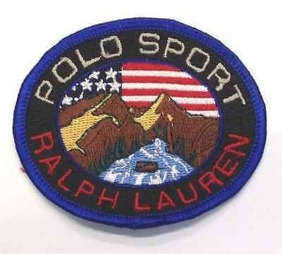 Vintage Ralph Lauren Polo Sport Logo Embroidered Sew On Patch Wear