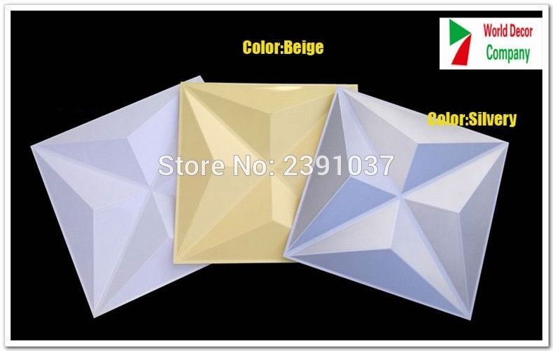 New Creative 3D Wall sticker Decorative 3d Wall Panel 3D Plate Panel ...